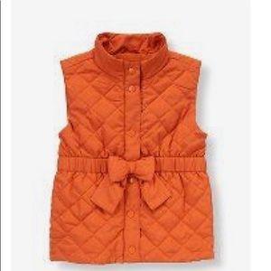Janie & Jack orange quilted vest
